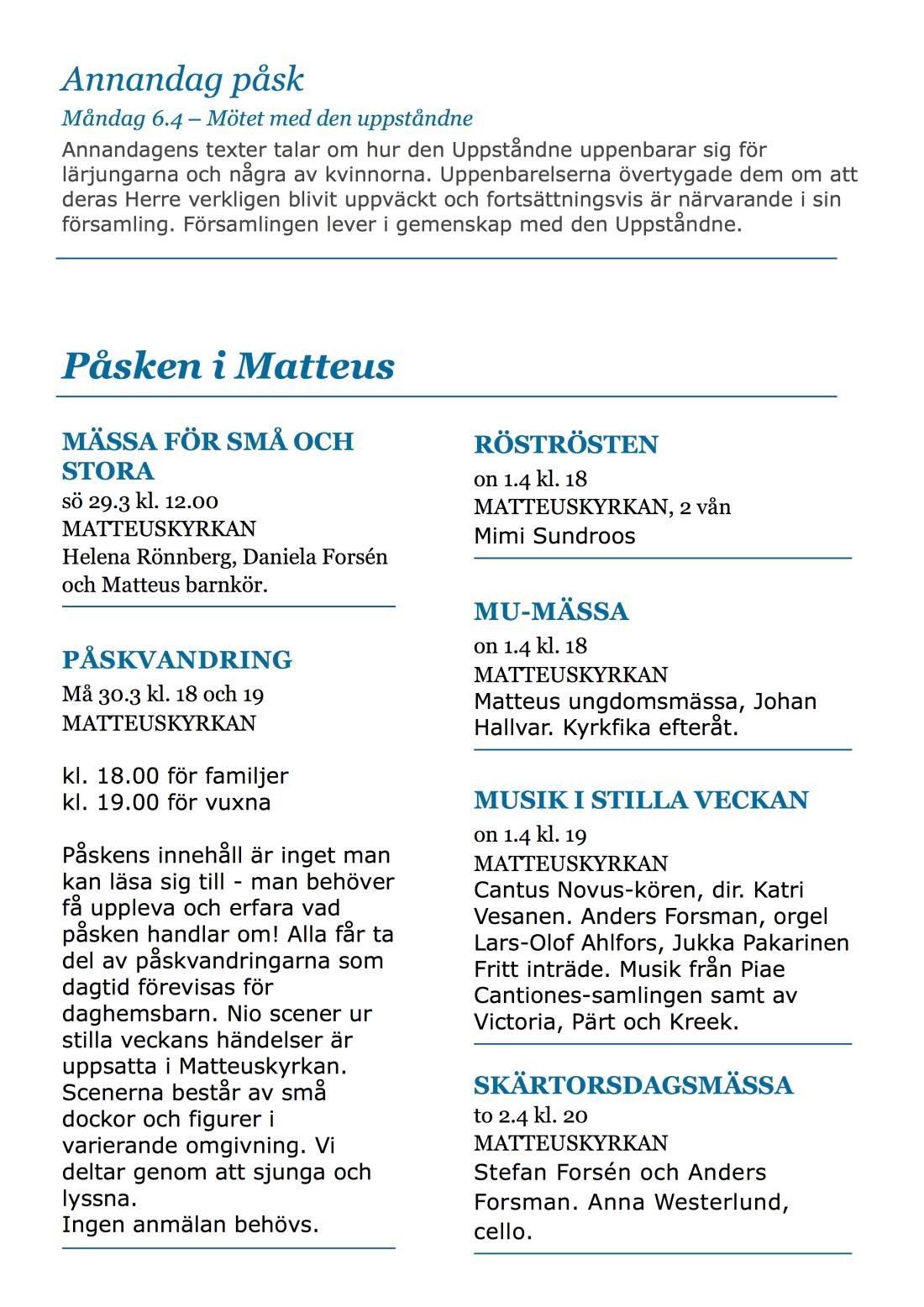 Veckoprogram - Påsken 2015 sid3