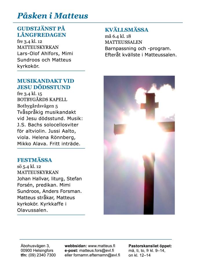 Veckoprogram - Påsken 2015 sid4
